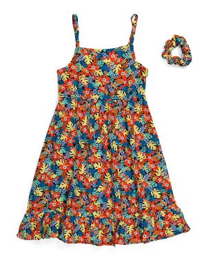 Big Girls Tropical Floral Dress