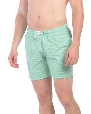 Premium Stretch Striped Sano Swim Shorts