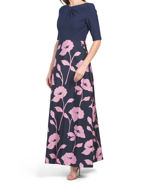 Teresa Floral Jacquard Ball Gown