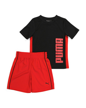 Toddler Boy 2pc Mesh Tee & Shorts Set