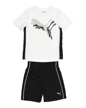 Toddler Boy 2pc Active Tee And Short Set