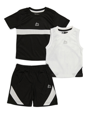 Toddler Boy 3pc Active Short Set