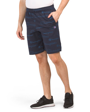 All Over Logo Print Powerblend Shorts
