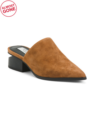 Slip On Suede Mules