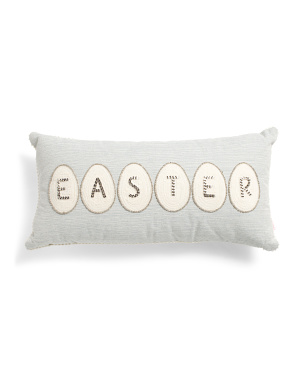 12x24 Beaded Easter Pillow