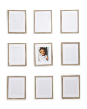 Set Of 9 8x10 Matted Portrait Frames