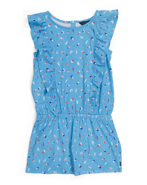 Big Girls Ruffle Knit Romper