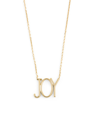 14k Gold Plated Sterling Silver Joy Necklace