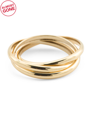 Made In Italy 14k Gold Triple Interlocking Rings