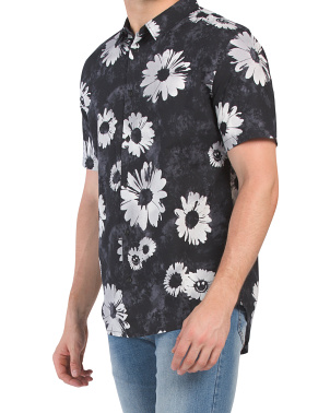 Daisy Spray Short Sleeve Floral Shirt