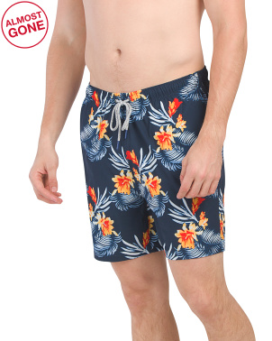 Hawaiian Tropics Printed Stretch Swim Trunk