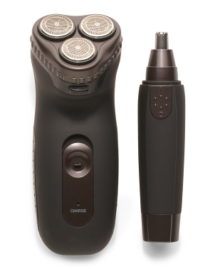 3-head Rotary Shaver & Ear And Nose Trimmer