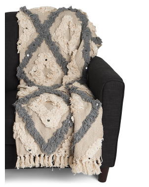 Lila Grace Tufted Fringe Throw