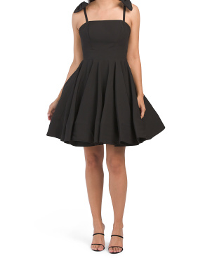 Fit And Flare Cocktail Dress With Bow Details