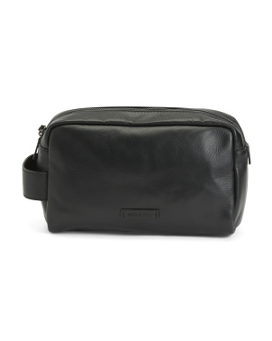 Made In Italy Leather Dopp Kit