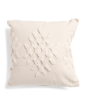 18x18 Cotton Pillow With Tufting