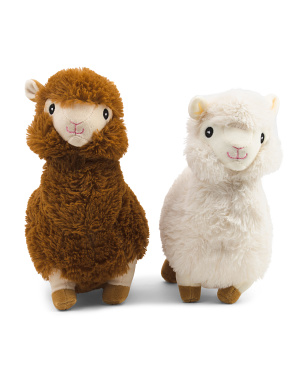 Set Of 2 Alpaca Dog Toy With Squeakers