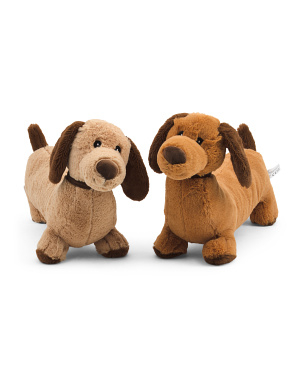 Set Of 2 Dog Toys With Squeaker