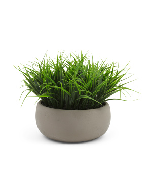 9in Grass Bowl In Natural Cement