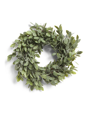 12in Powdered Tea Leaf Wreath