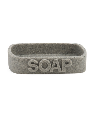 Sandstone Words  Soap Dish