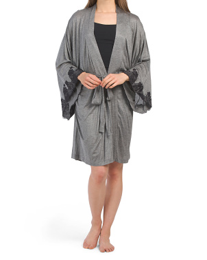 Lace Trimmed Charlize Robe