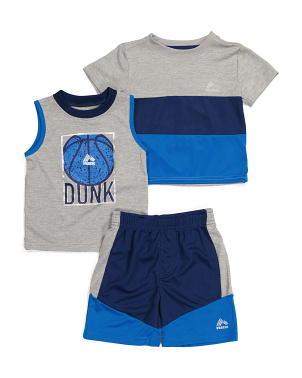 Toddler Boys 3pc Active Short Set