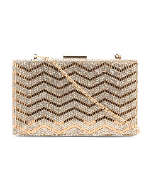Crystalized Evening Chain Clutch