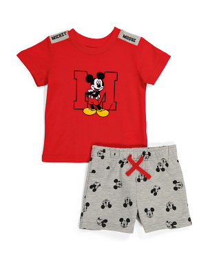 Infant Boys 2pc Mickey Mouse Tee And Short Set