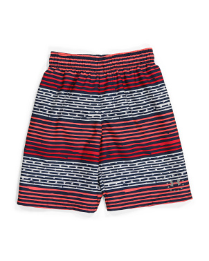 Big Boy Gradient Stripe Volley Swim Shorts
