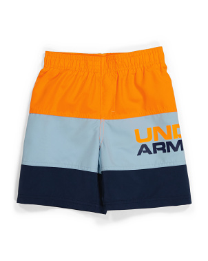 Little Boy Triple  Block Volley Swim Shorts
