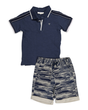 Little Boy Polo Short Set