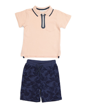 Little Boys 2pc Polo And Short Set