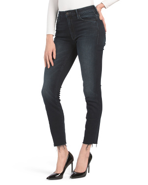 Made In Usa High Waisted Looker Ankle Fray Jeans