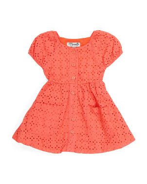 Toddler Girls Eyelet Bubble Dress