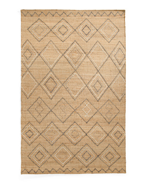 5x8 Hand Woven Jute Textured Area Rug