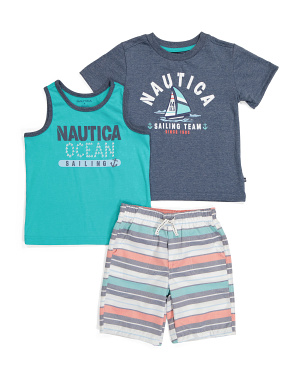 Little Boy 3pc Short Set