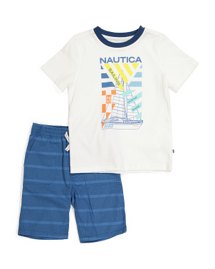 Little Boy Graphic Tee And Short Set