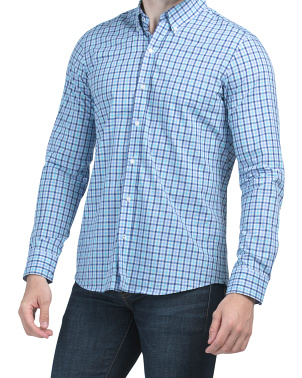 Westend Mini Check Long Sleeve Woven Shirt