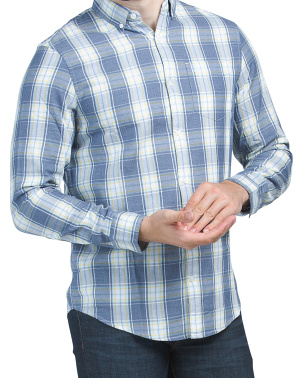 Medium Plaid Long Sleeve Woven Shirt