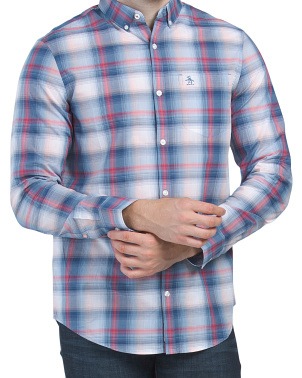 Large Scale Plaid Long Sleeve Woven Shirt