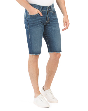 Ricky Big T Shorts With Raw Hem