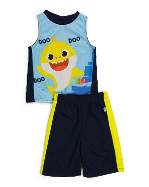 Little Boy 2pc Tank And Mesh Shorts Set