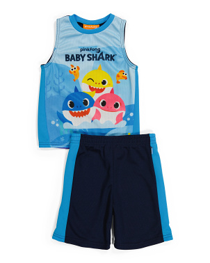 Little Boy 2pc Tank & Mesh Shorts Set