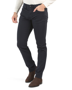 Slim Fit 5 Pocket Soft Twill Pants