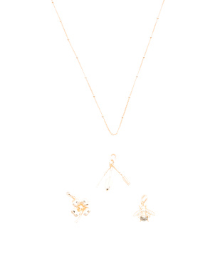Gold Plated Sterling Silver Garden Charm Necklace Collection