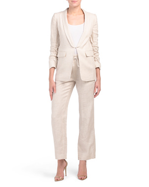 Petite Linen Suit Set Collection