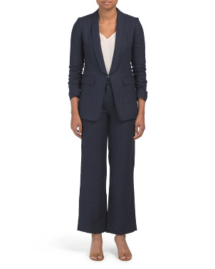 Petite Tailored Linen Suit Set Collection