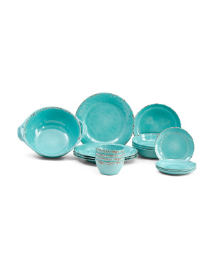 Crackled Turquoise Tableware Collection