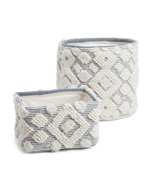 Textured Woven Basket Collection